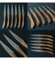 12 Laguiole En Aubrac Cuchillos de carne en madera de nogal
