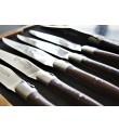 6 Laguiole En Aubrac Cuchillos de carne en Madera de Wengué